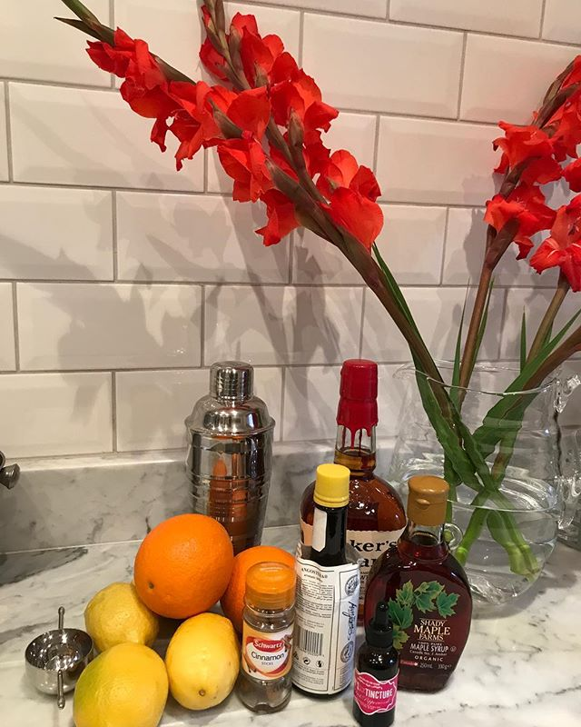 Getting ready for a lil' sumpin' for fall!  Maple Whiskey Sour!