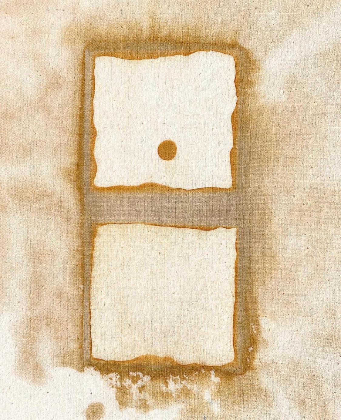 """12"""" x 18"""", on raw silk, $400 framed"""
