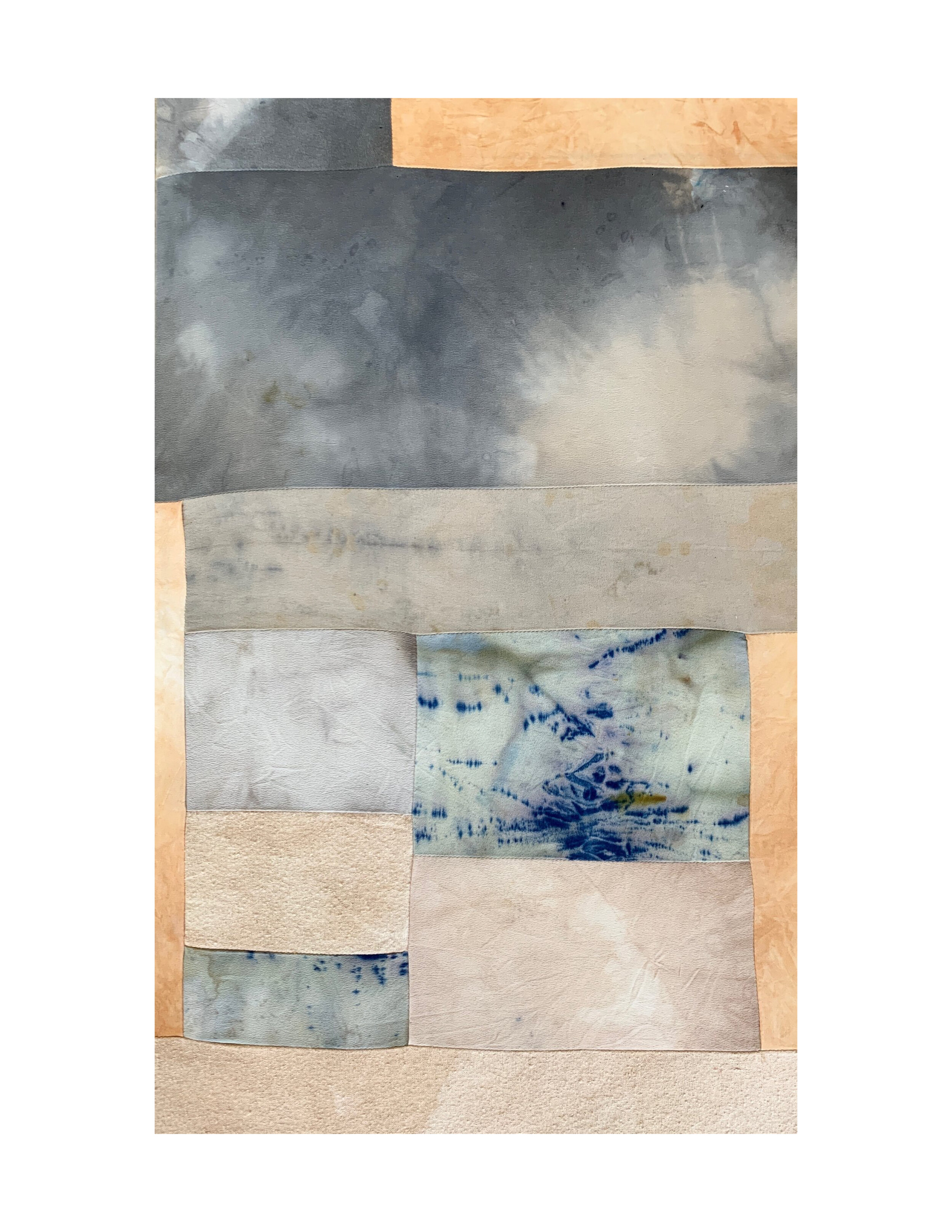 "18"" x 24"", patchwork piece, $625 framed"