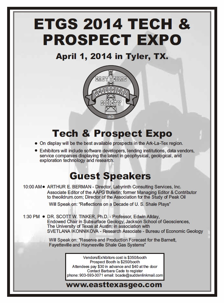 ETGS 2014 Tech & Prospect Expo April 1 2014 Tyler Texas