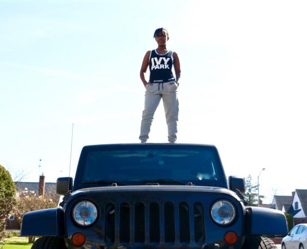 ivy park black bodysuit sweatpants jeep