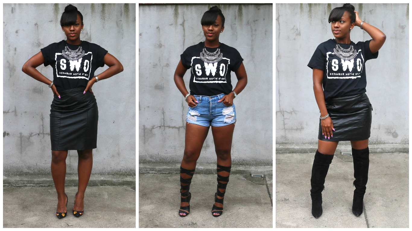 3 ways to wear graphic tee
