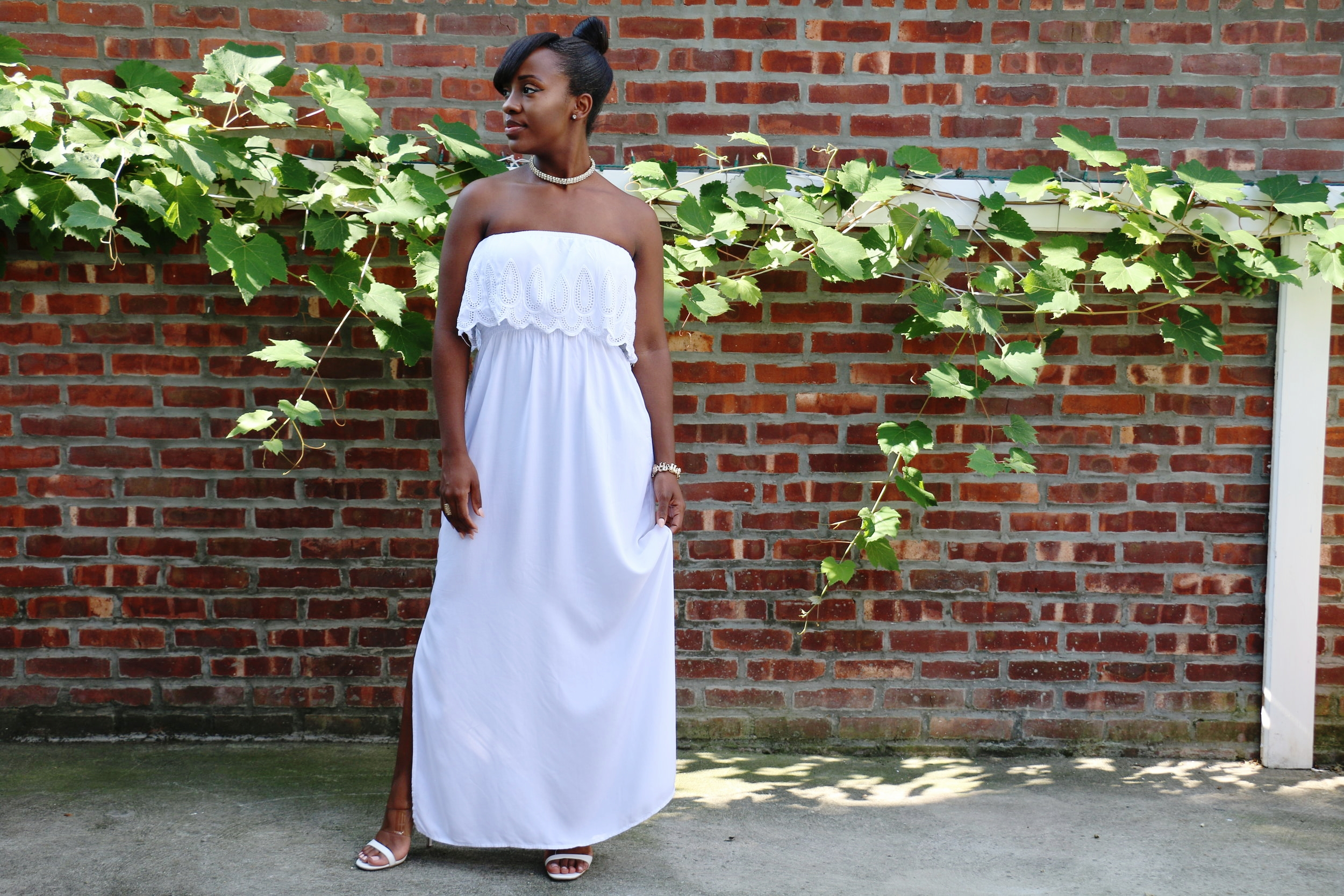 white maxi dress_strapless maxi dress