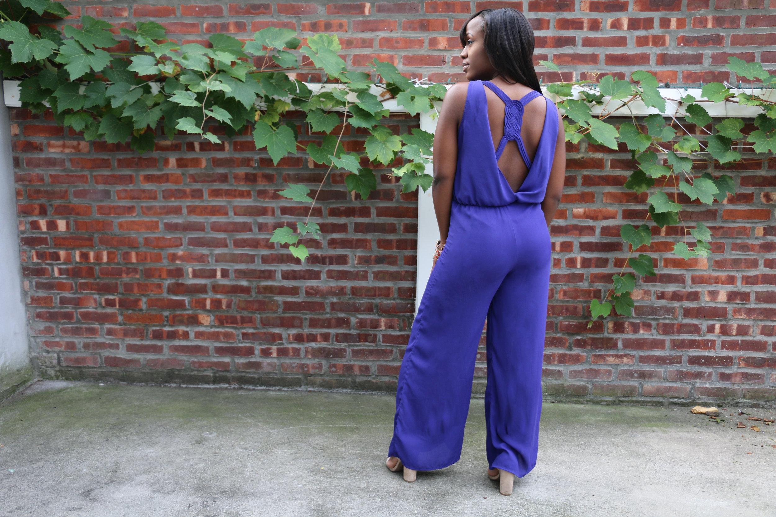 purple jumpsuit playsuit romper