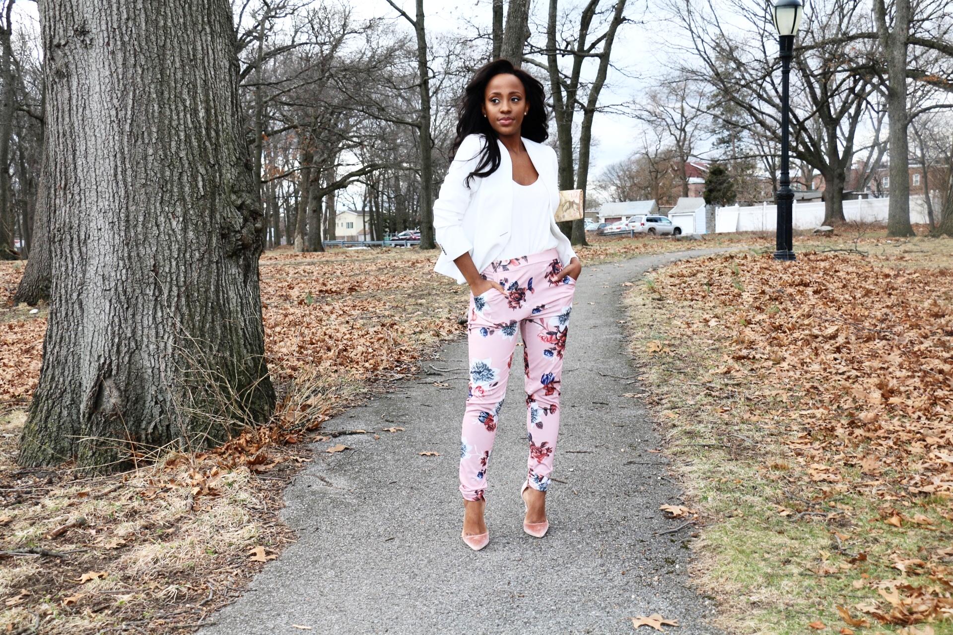 Blazer: Olivia Pope Collection | Pants:  Castle Black  | Shoes:  ShoeDazzle  | Slides:  Aldo