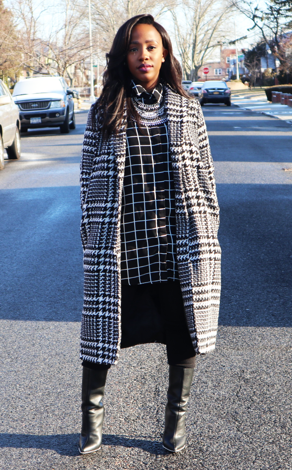 Mixing Prints_Window Pane Houndstooth