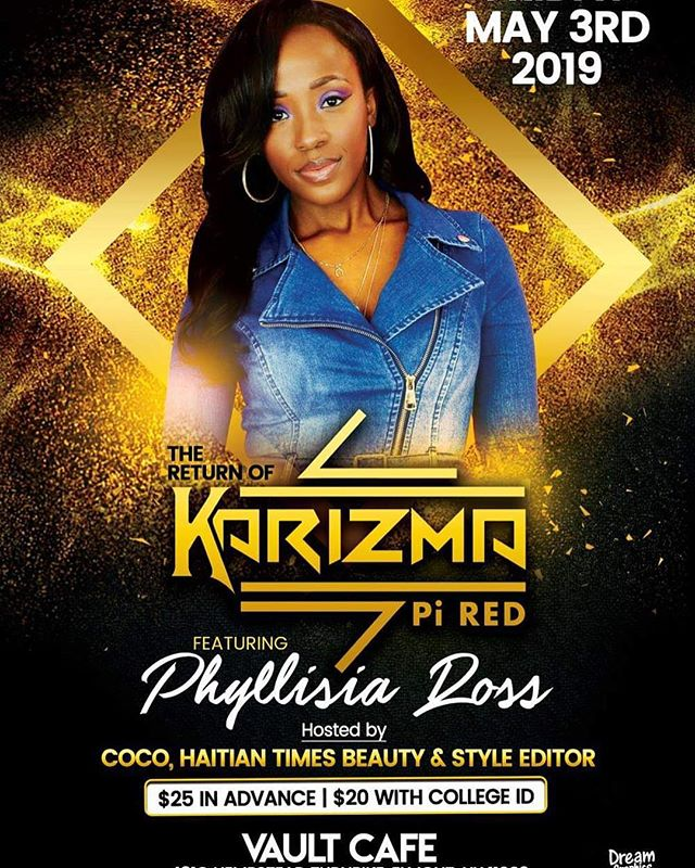 Y'all. It me. On a flyer. 😂  Somebody tell Sr. Marie's son to meet me here 😜 But seriously, if you love kompa as much as I do, show me baby! Come out and dance with me 💃�🕺� The Return of @karizmanyc AND the incredible @phyllisiaross THIS Friday 🙌� Music by @djmagickenny @djjimmyentourage @_jazzythegreat_ LINK FOR TICKETS IS IN MY BIO