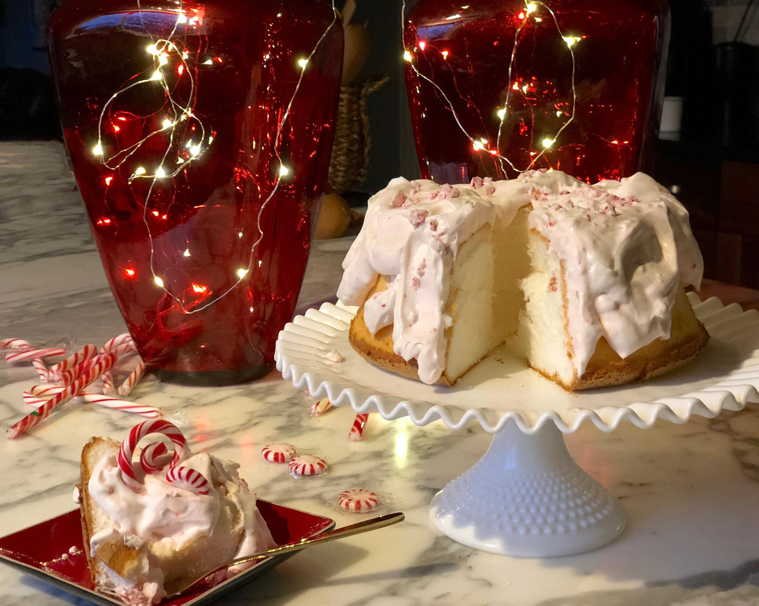 peppermint angel food cake