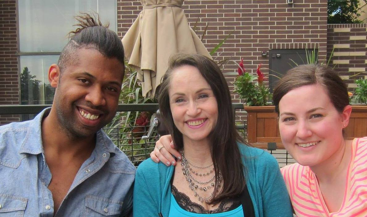 Katherine with Sterlin Mosley and Aaron Addonizio in Denver, CO 2013
