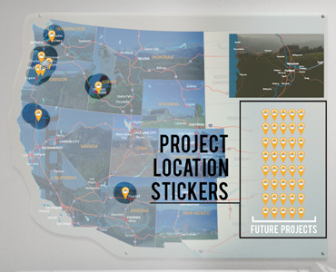 """Location pins were held in the """"Future Project"""" area. Designed to be placed in project area all over the map."""
