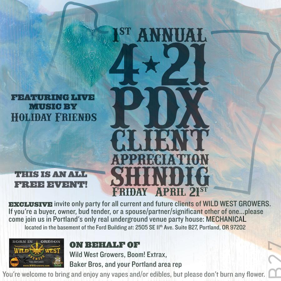 Mechanical -  Wild West Grower's Client Appreciation special event timeline event plug.