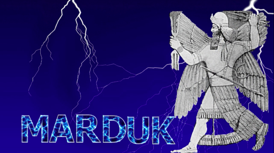Many ancient cultures depicted their gods as wielding lightning and thunder. Marduk, the god of the Babylonians located in Mesopotamia during the same historic period as the Jews, is shown here with the powerful forces in each hand. It is was not uncommon to refer to the divine as speaking thunderously, just as we read in the book of Job in the Old Testament.
