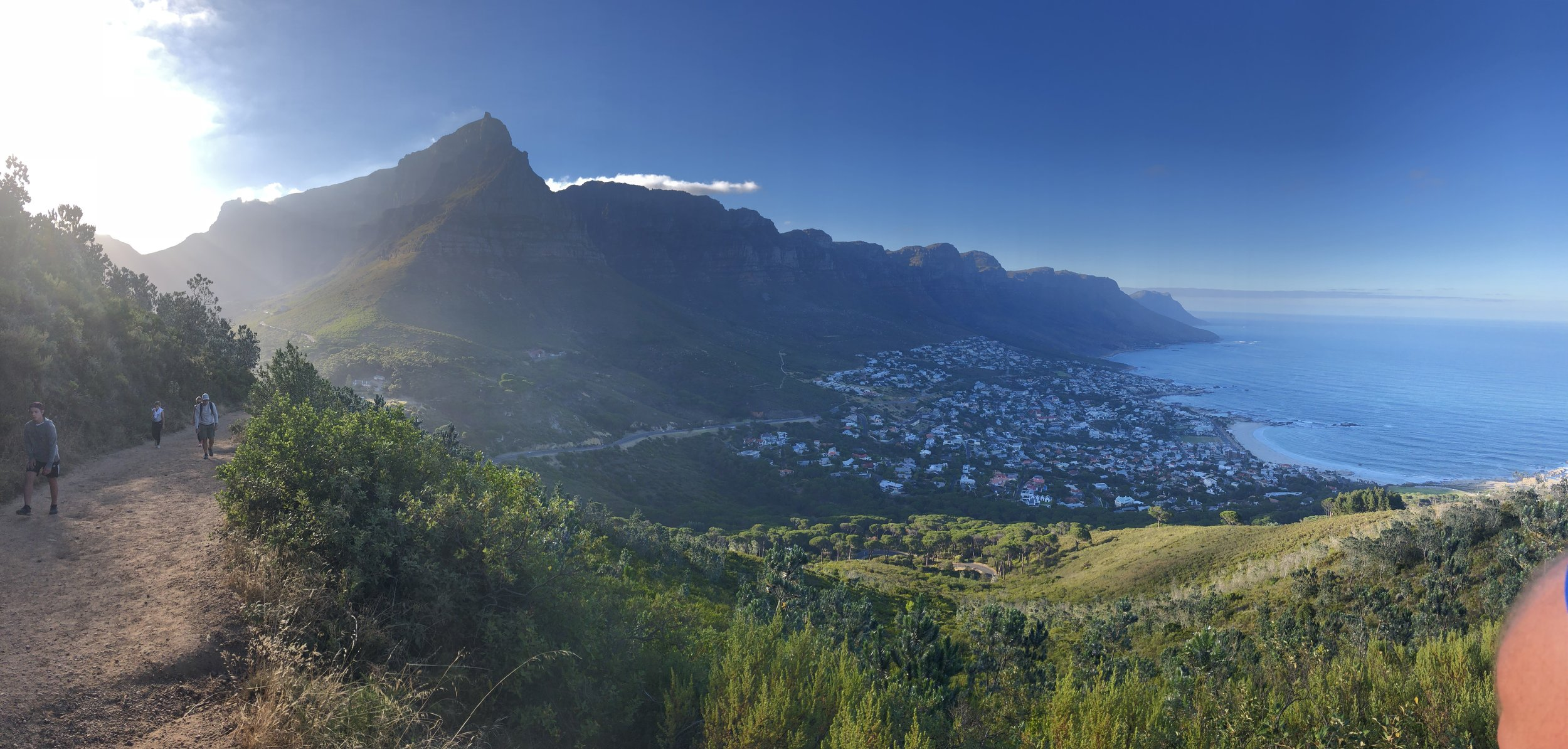 Along the way to the top of Lion's Head in Cape Town. This was before the path got too anxiety producing to take photos.