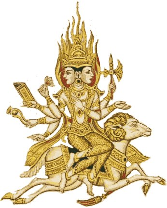 Agnideva, Lord of fire,is very old anddates back to the Vedic deities.