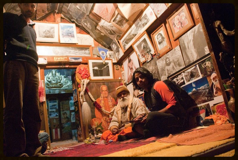 A moment with the great Hath yogi Swami Sundaranandji in Gangotri Himalays from whom I learn't nuances of breath control.      photo credit: Dr Sumit kesarkar