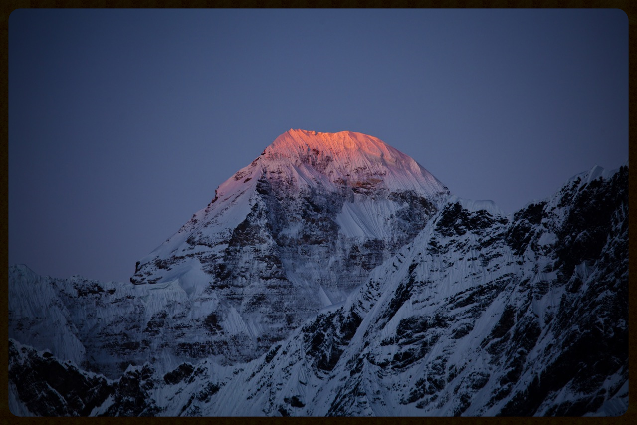Sunrise on the Nandadevi mountain ranges. At 16000 feet the sight is blissful and offering pranayama at this time most resourceful .  PHOTO CREDIT: DR SUMIT KESARKAR