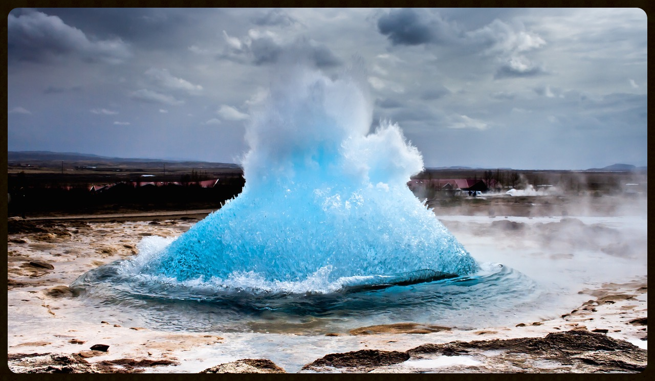 Capture of geysir at Iceland . The gush of water reminds me of Vrittis of the mind which need to be controlled and tamed to move to higher states of consciousness.  PHOTO CREDIT: DR SUMIT KESARKAR