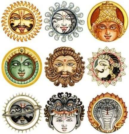 The 9 planets of vedic astrology