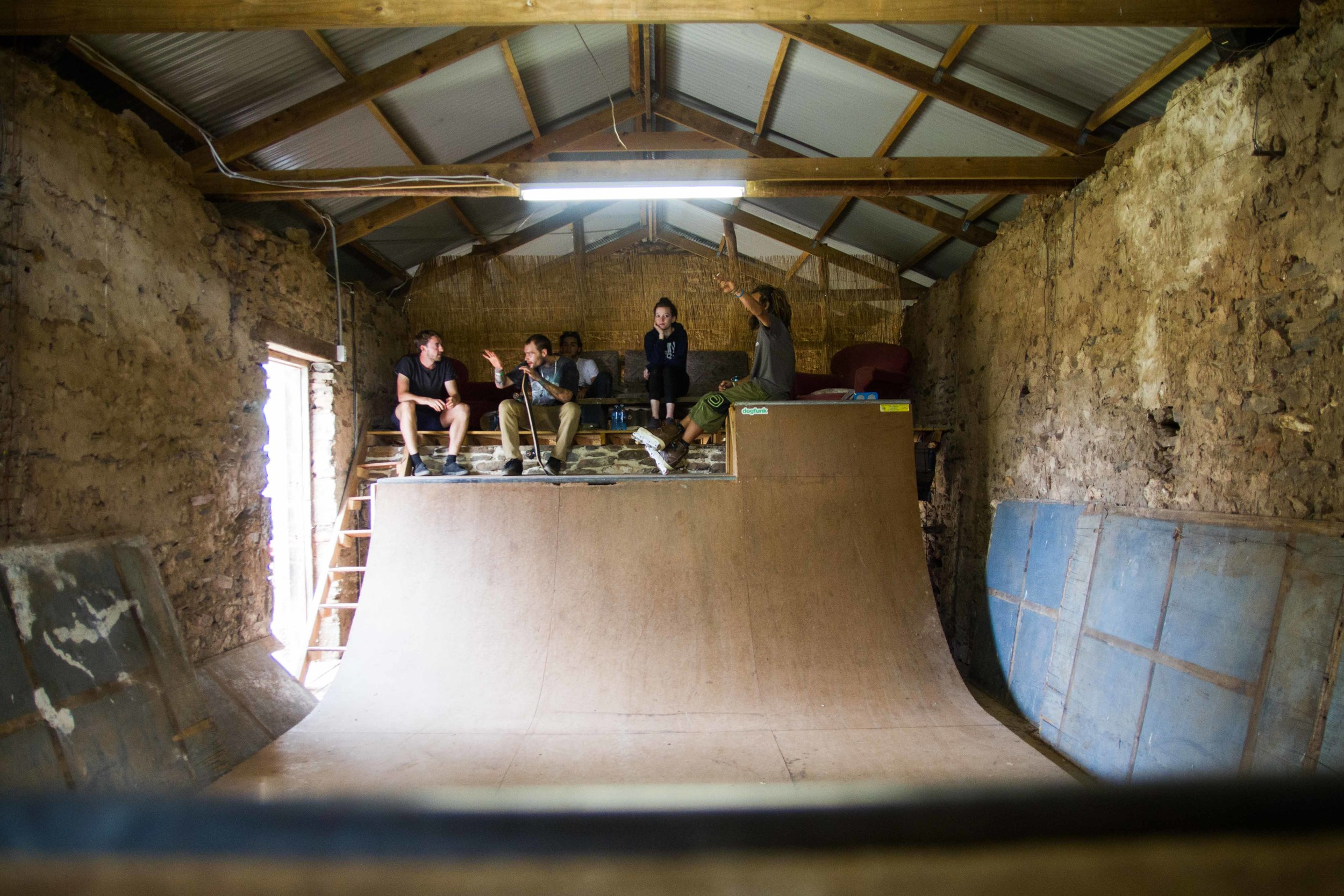 How many festivals have you been to where you can ride a half-pipe in-between acts?