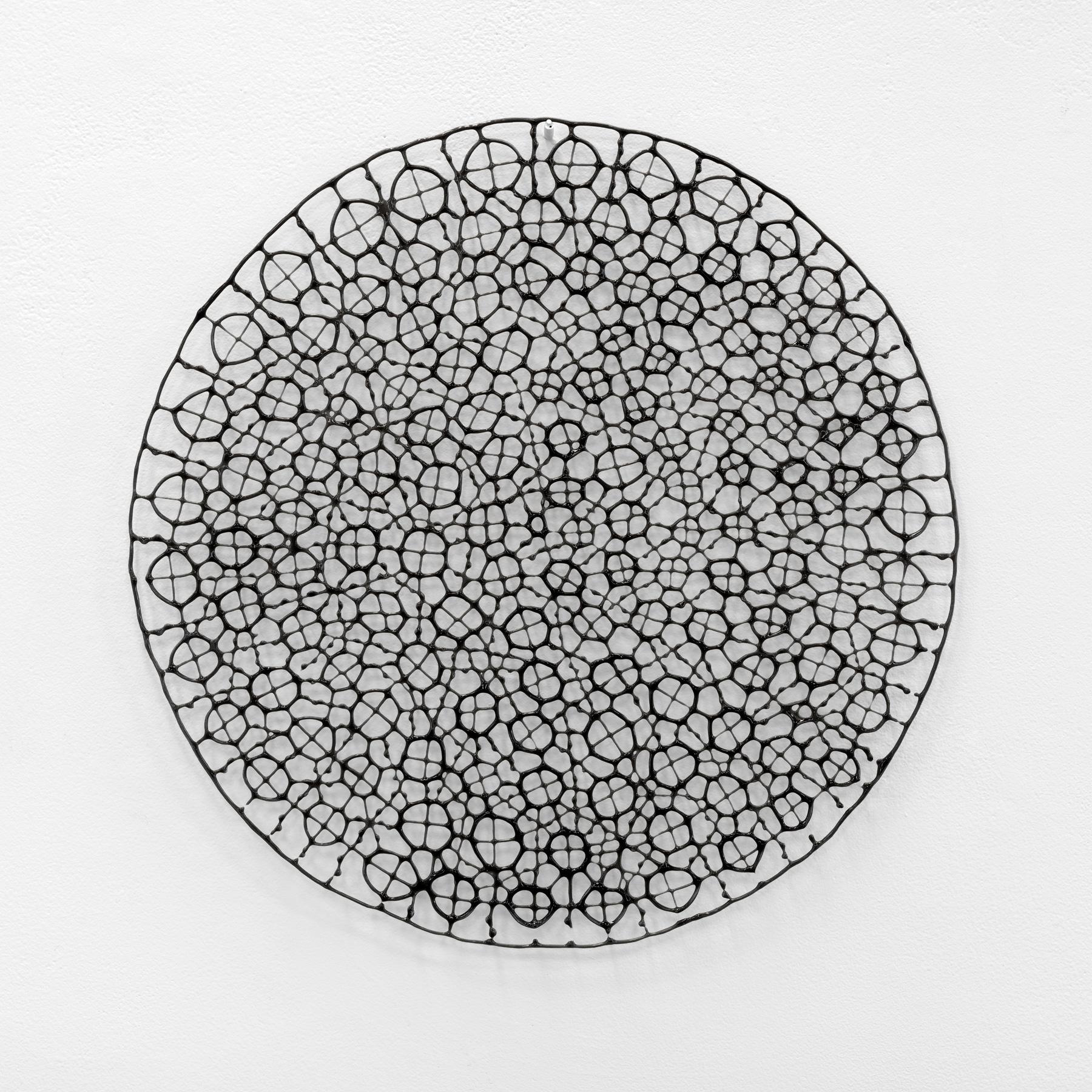 Ursula Halpin, An lub ar lár series (the dropped stitch series), 2016, pâte de verre, kiln formed bullseye glass, 40x40cm, photo by Grant Hancock