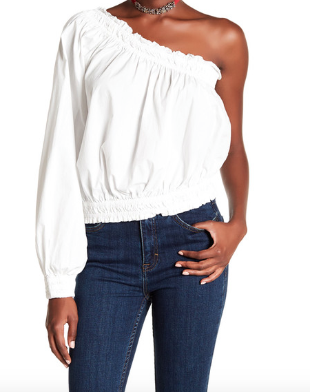 Free people- off the shoulder shirt