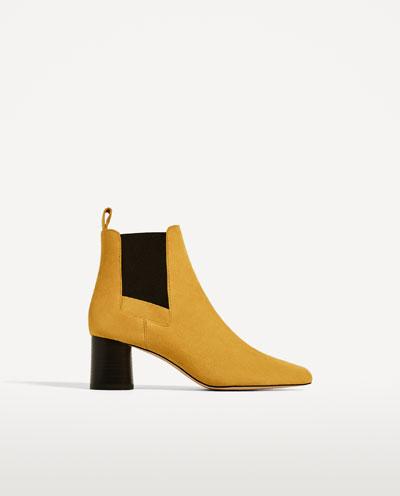 Mustard stretch bootie