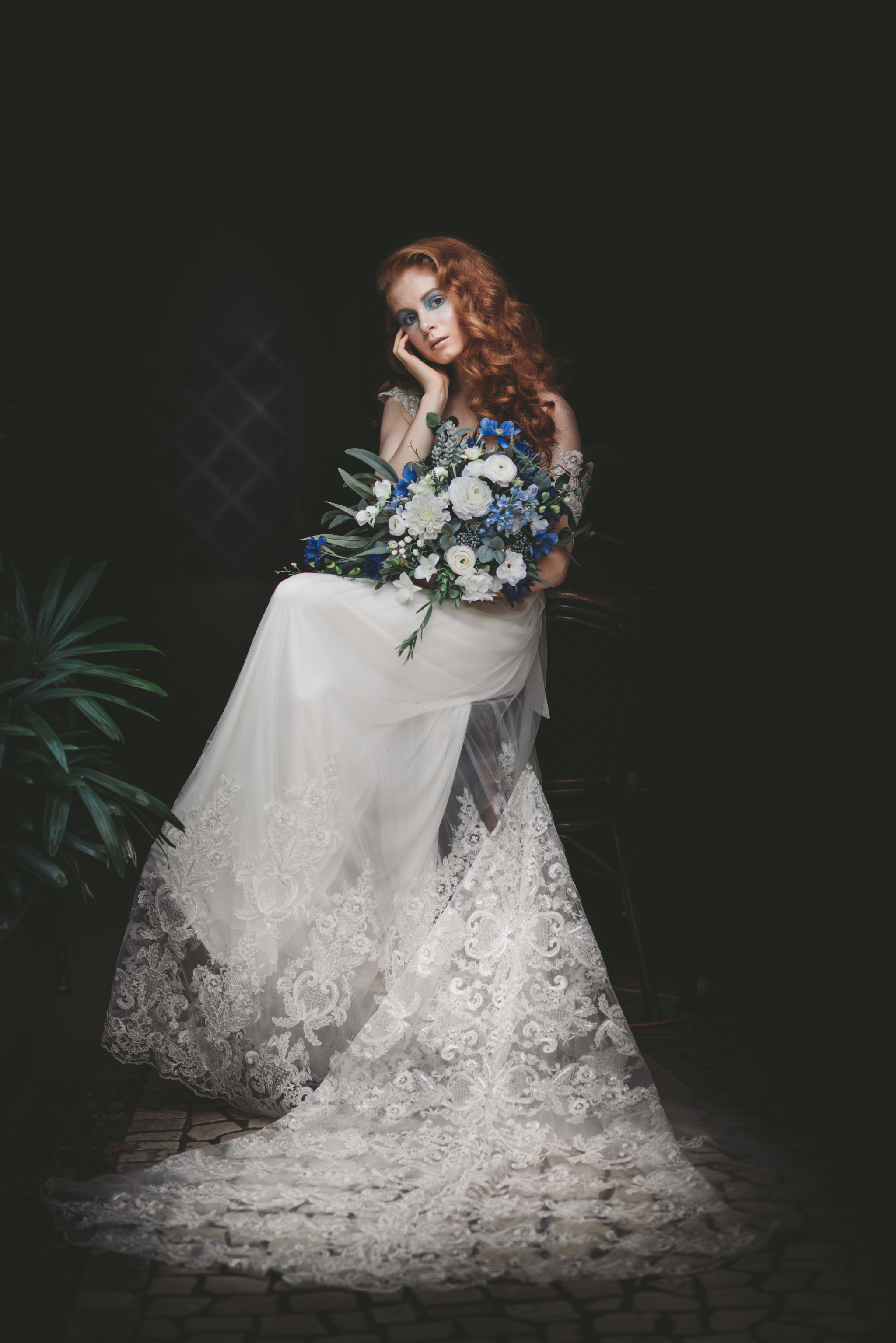 Lovelenscapes Bridal Editorial Photography • Anna Campbell Bridal • Savannah Gown • Alphonse Mucha X Vogue • Sapphire