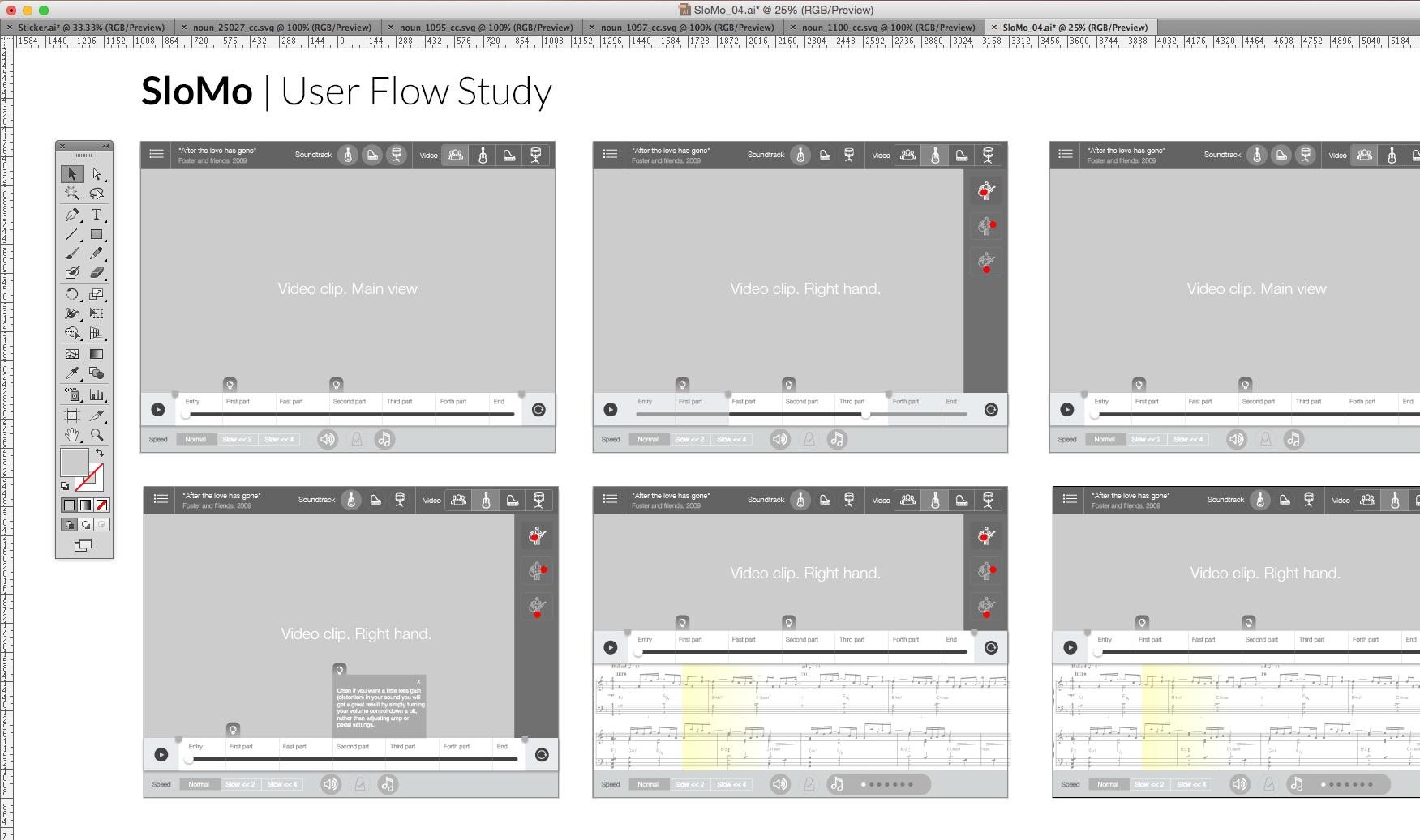 User flow. Work in progress.