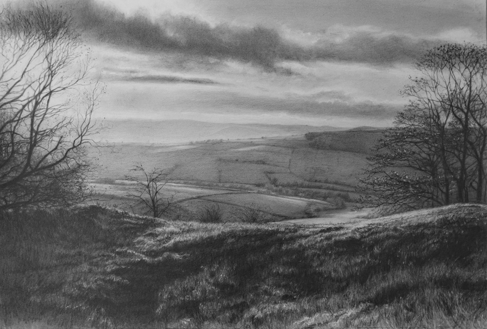 West Borders,  2018 (Pencil on paper)