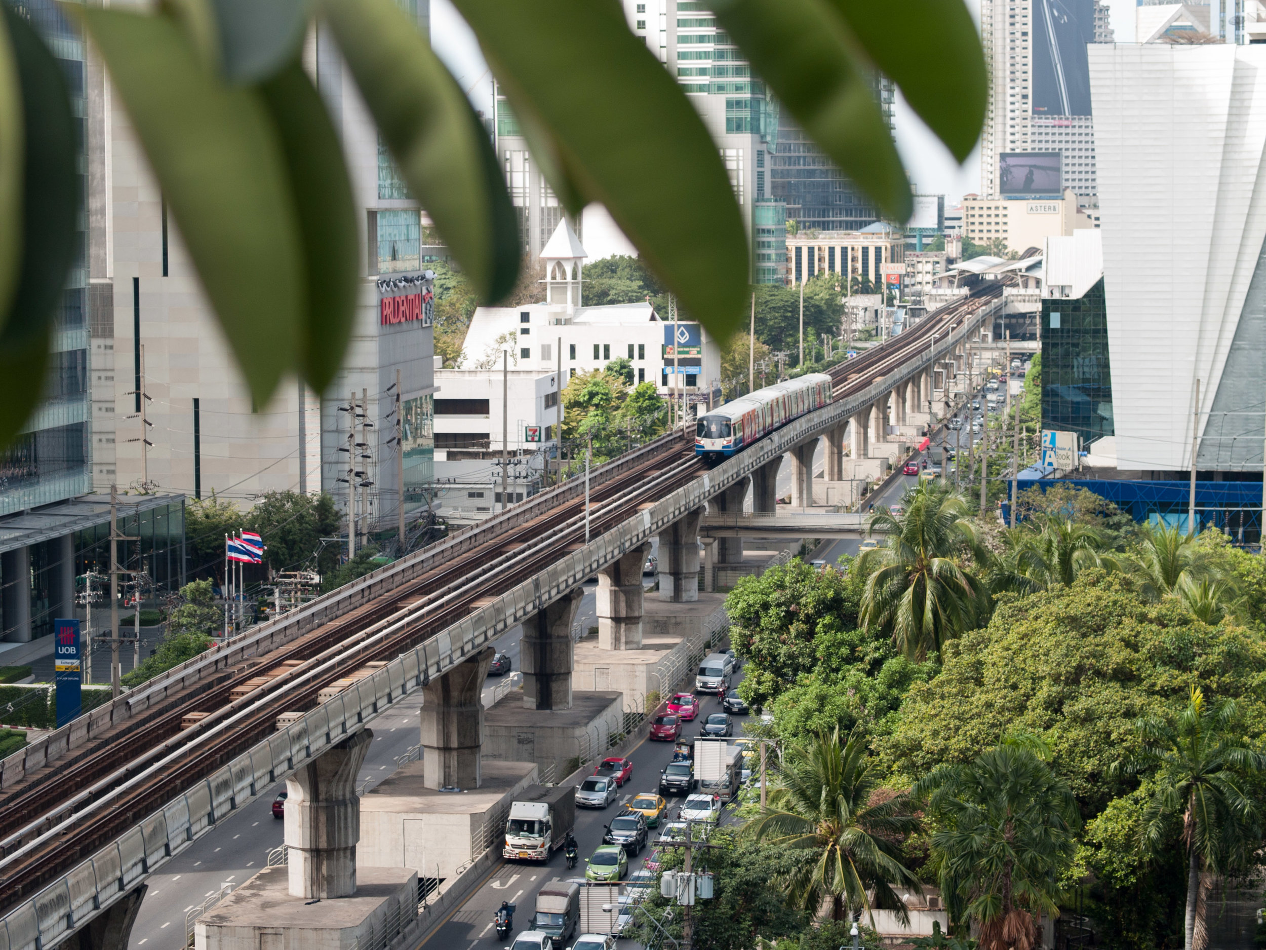 Sky Train and BKK city buzz from above