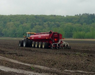 Injection of liquid Class B biosolids, Essex Junction, VT.