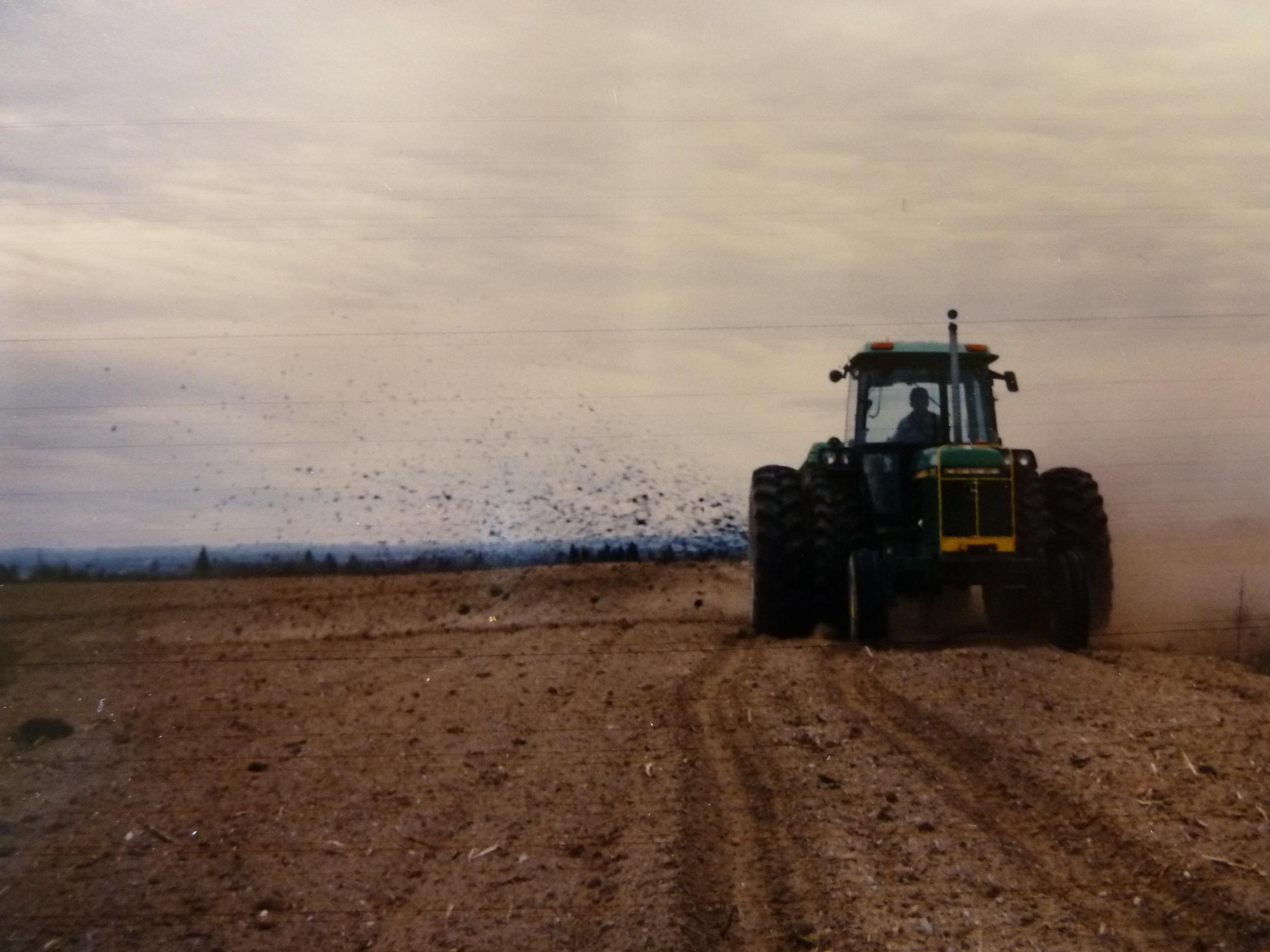 Land application of Class B biosolids, Quebec.