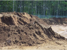 Water treatment residuals stockpiled for use in soils blends to reduce phosphorus (P) environmental availability.