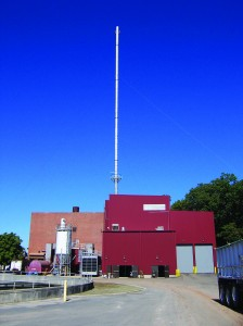 The Woonsocket, RI wastewater solids incinerator.
