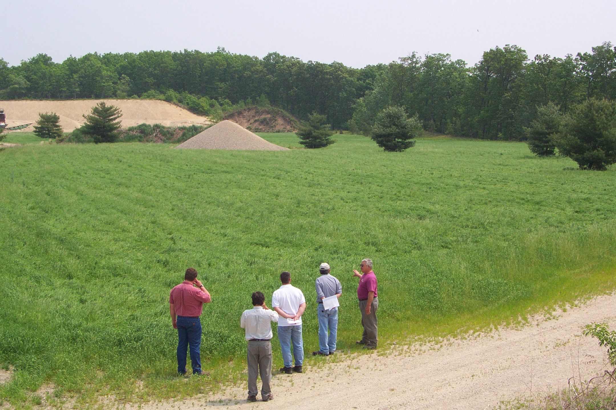 A gravel mining area restored for hay production, 2006, central MA.