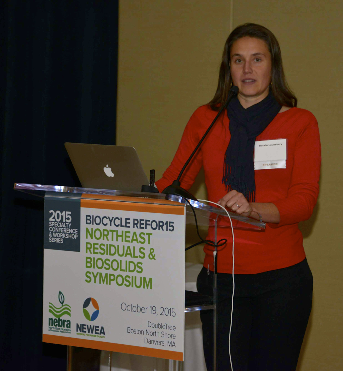 Keynote speaker Natalie Lounsbury.  C. Tyler photo.