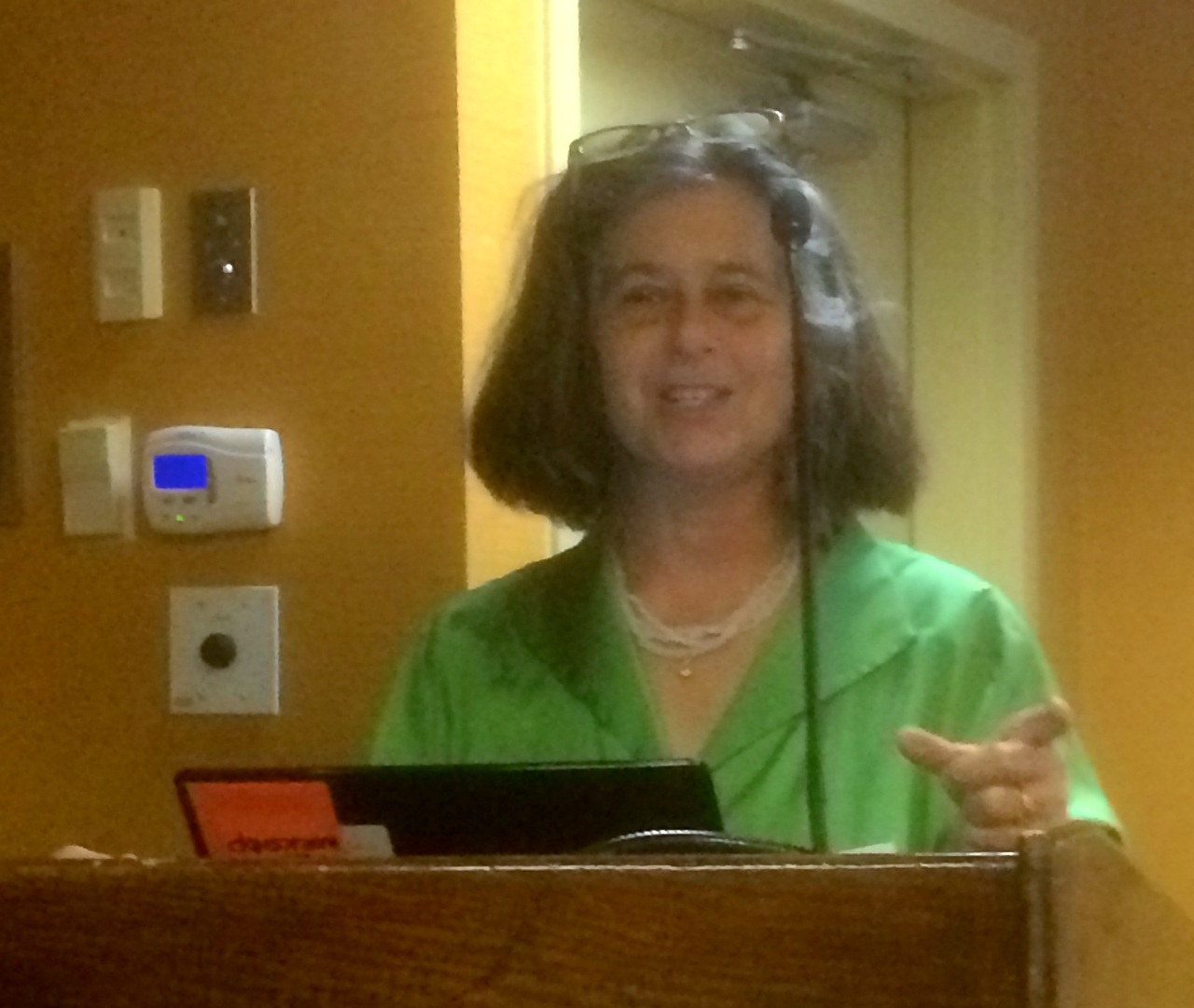 """Dr. Sally Brown (Univ. of WA) speaks at the NEWEA/NEBRA """"Hot Topics"""" session at REFOR15."""