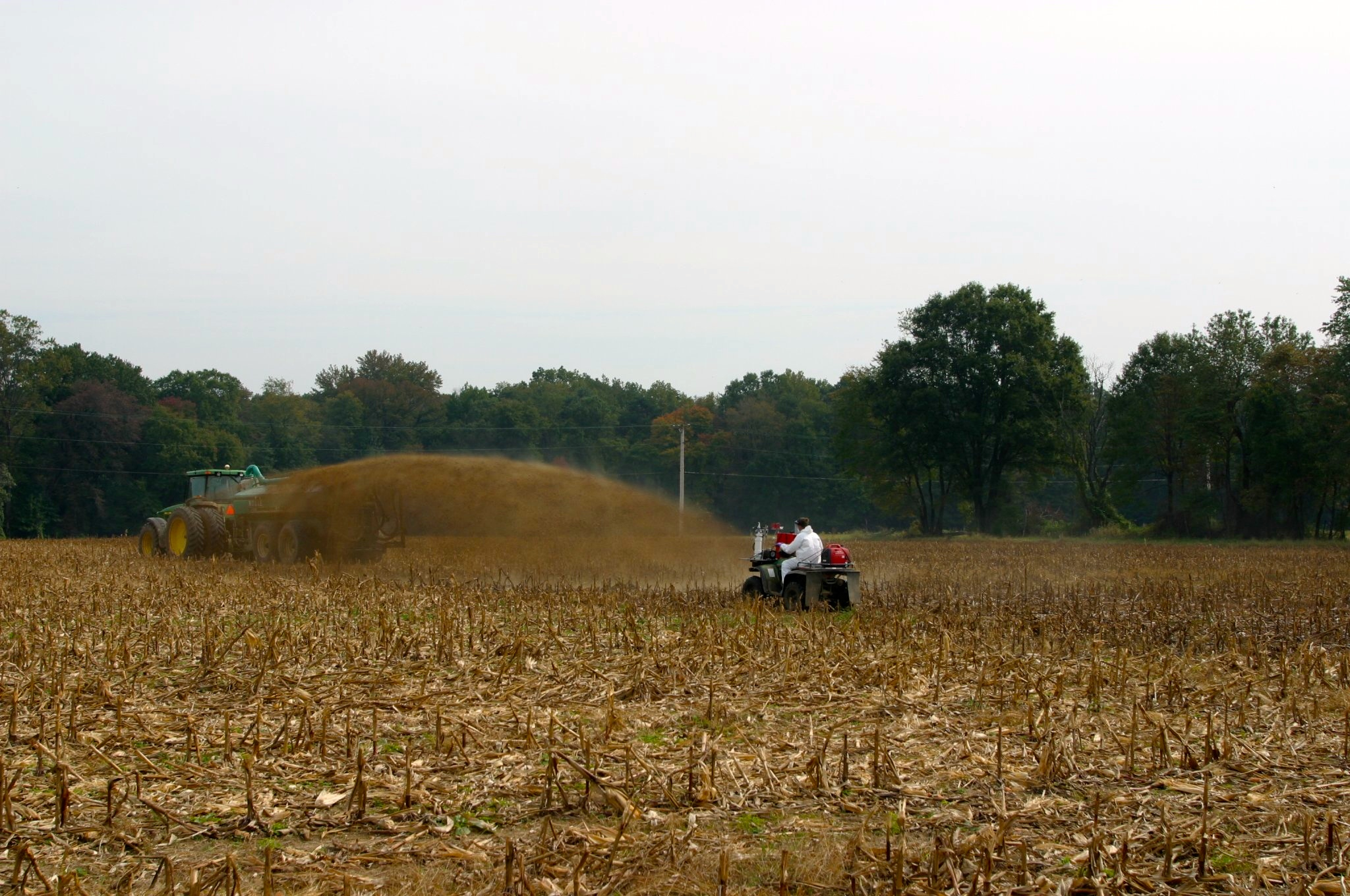 National bioaerosols research included testing at a Maine farmland application of biosolids.