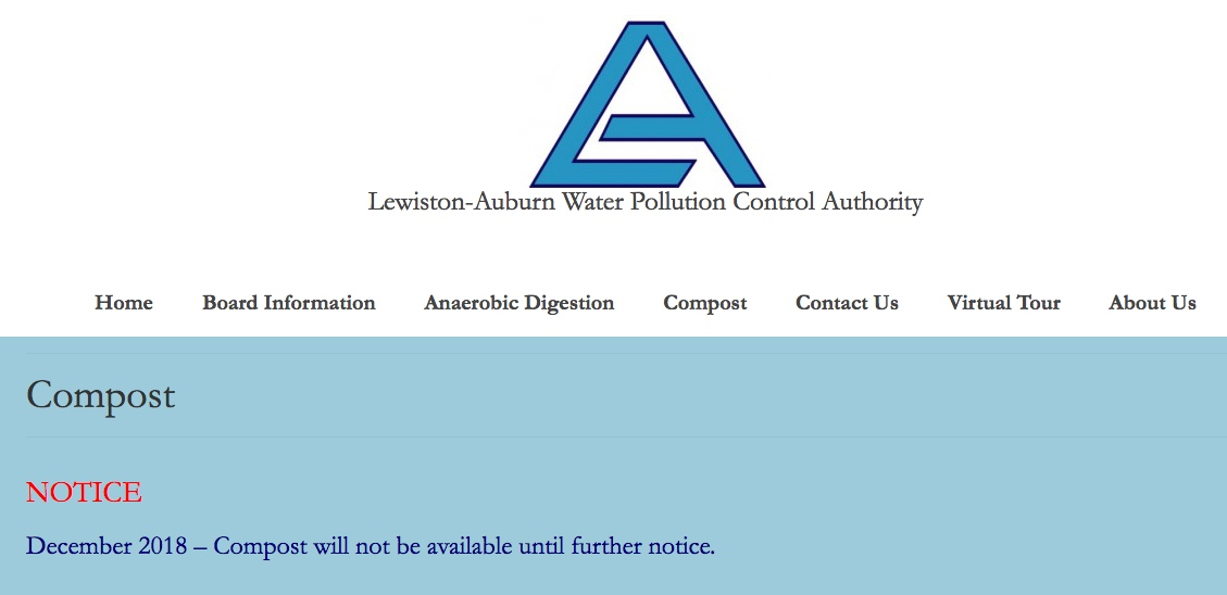 This LAWPCA website notice provides no sense of the history, nor the impact of the closing, of one of the region's pioneering, successful biosolids composting programs.