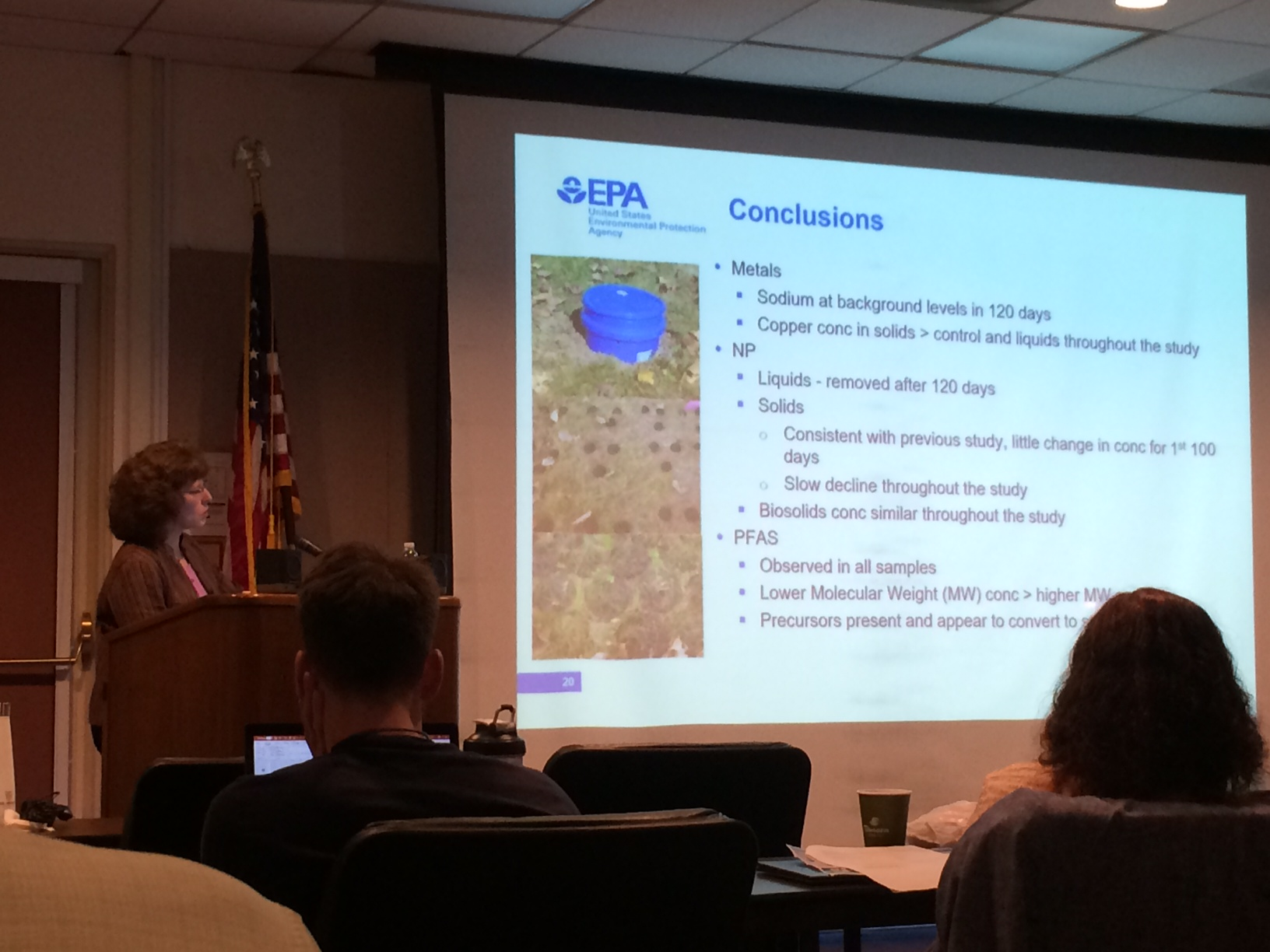Carolyn Acheson, U. S. EPA researcher, presented additional research building on their   first multi-media evaluations at a North Carolina field site  .