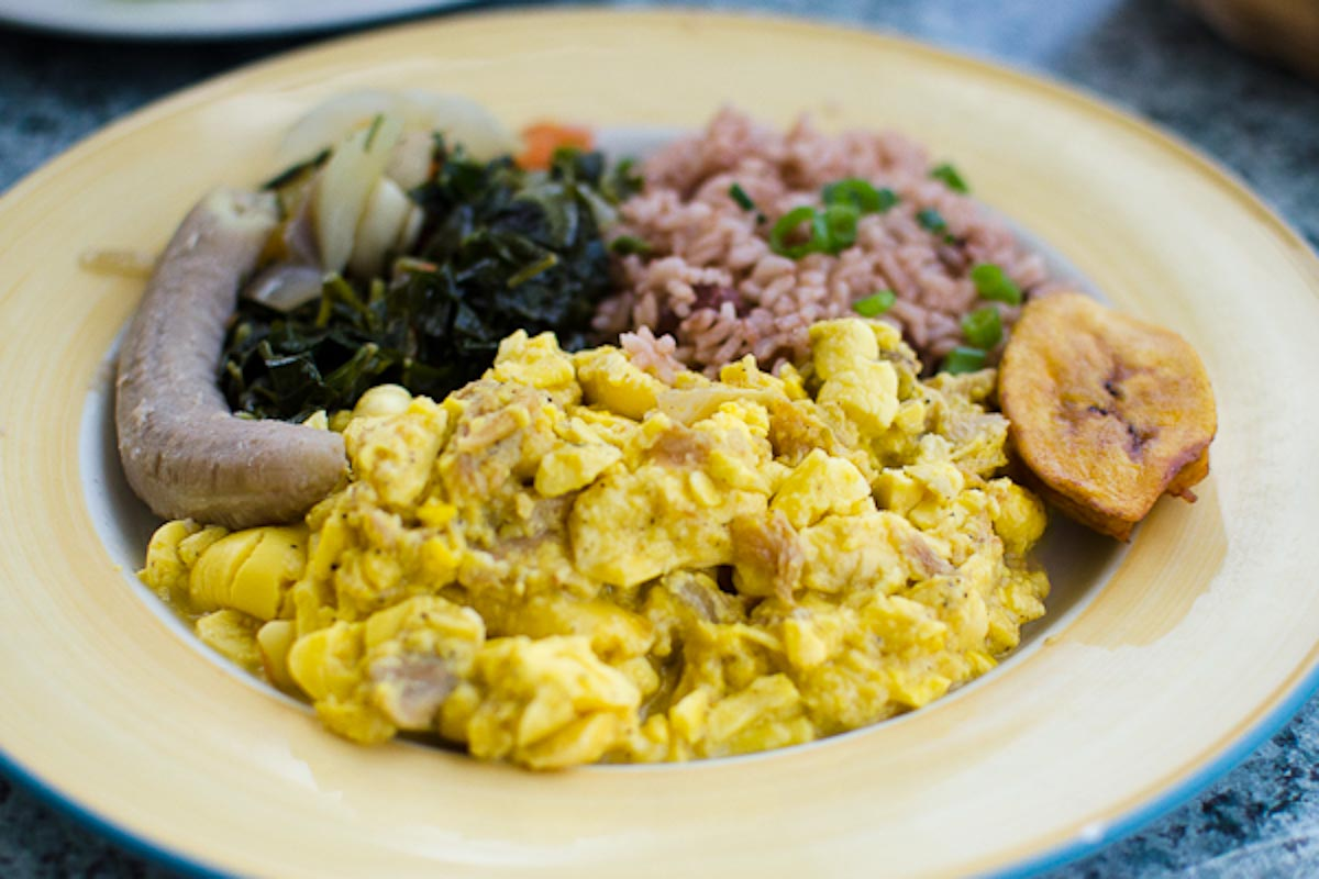 Ackee and Saltfish at Over The Edge | Photo Credit: Find. Eat. Drink.