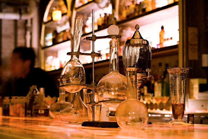 Cocktail lounge meets lab vibe at Apotheke | Photograph Courtesy of Apotheke