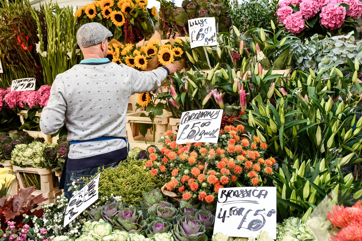 Columbia Road Flower Market on Sundays | Photo Credit: Find. Eat. Drink.