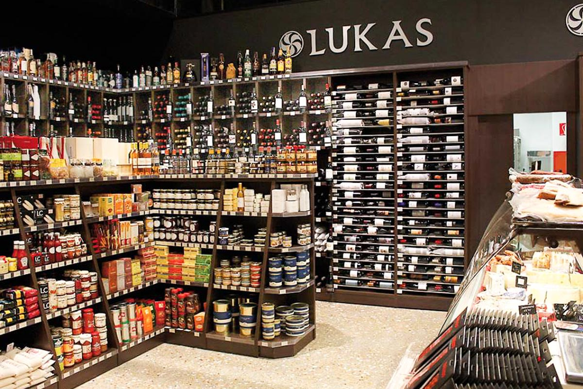 Wine and local provisions at Lukas Gourmet   Photograph courtesy of Lukas Gourmet
