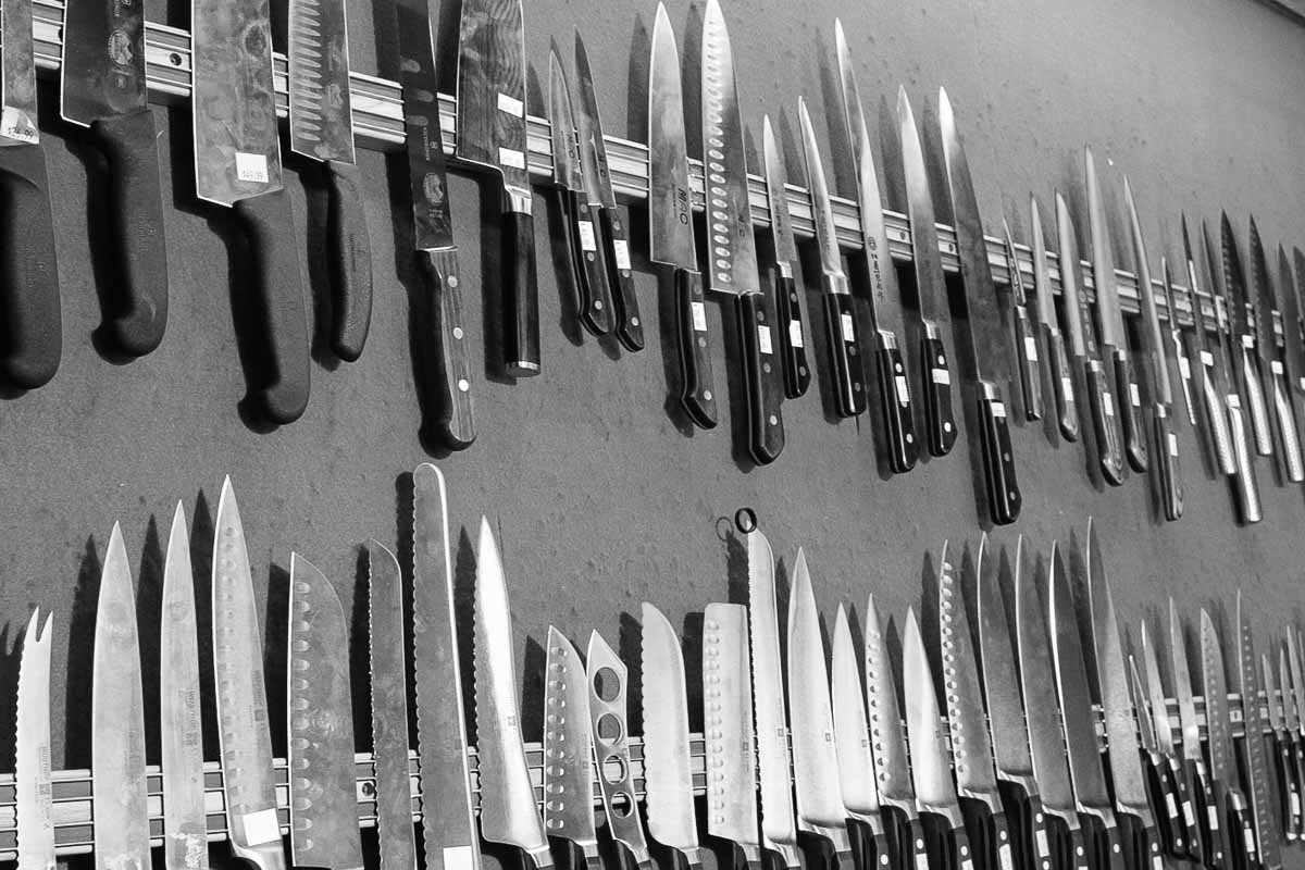 Knives at Bertarelli Cutlery | Photograph courtesy of Bertarelli Cutlery