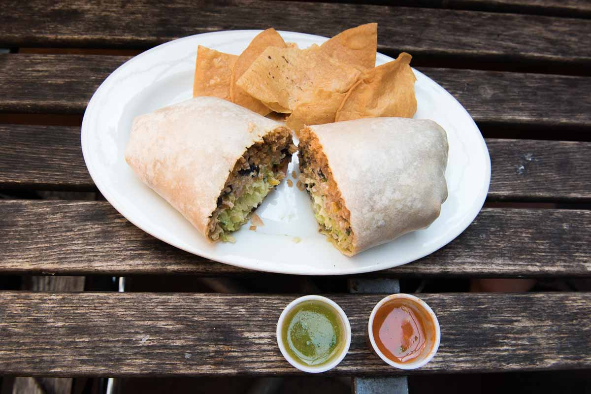 Burrito with fresh-made sauces at Maya Taqueria |Photo Credit: Find. Eat. Drink.