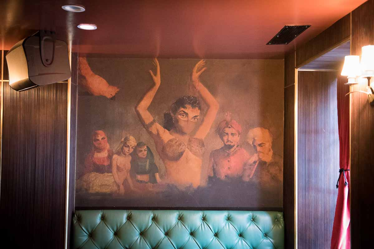 Mural from its earlier days as the Ali Baba  Photo Credit: Find. Eat. Drink.
