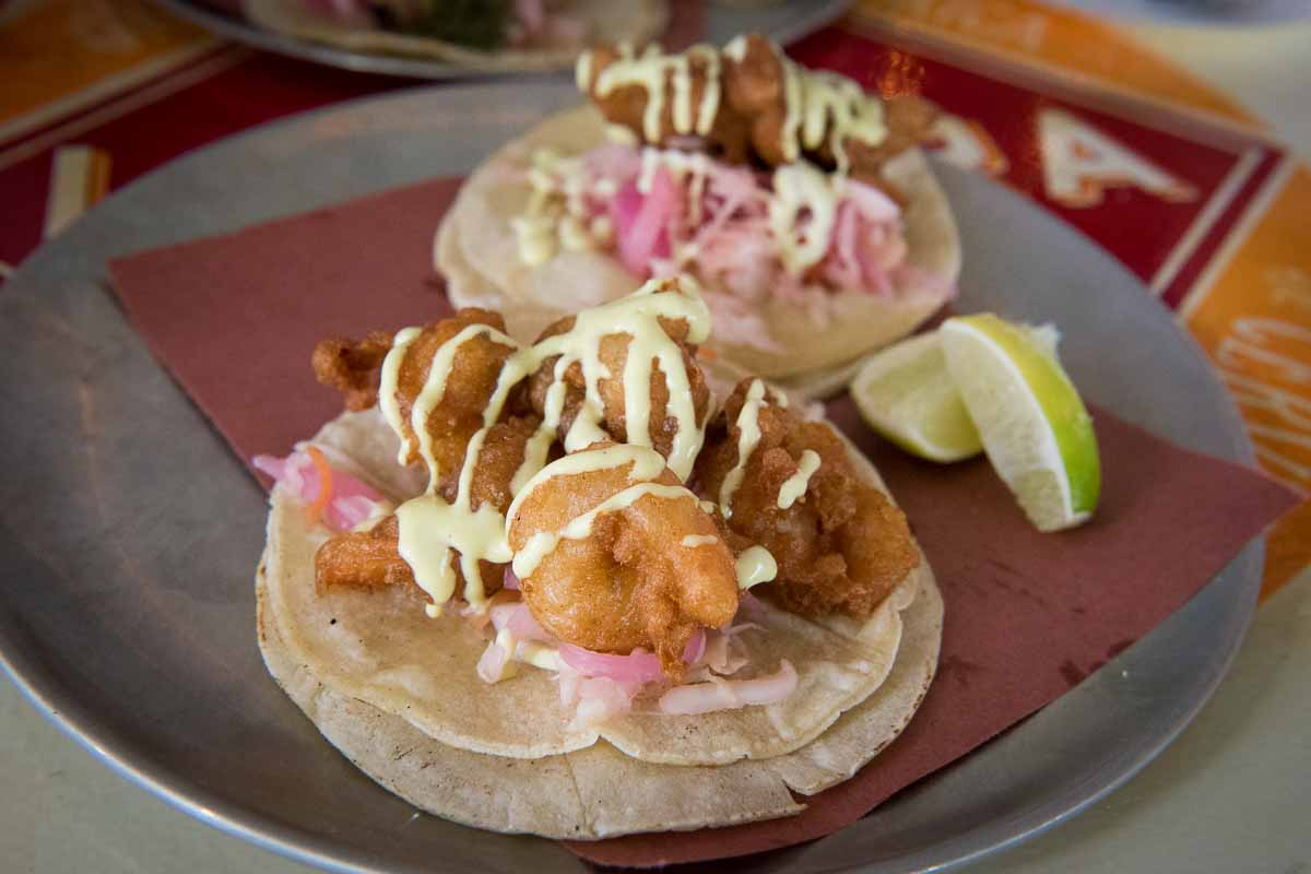 Crispy Shrimp and Crispy Tile Fish Tacos at La Brisa | Photo Credit: Find. Eat. Drink.