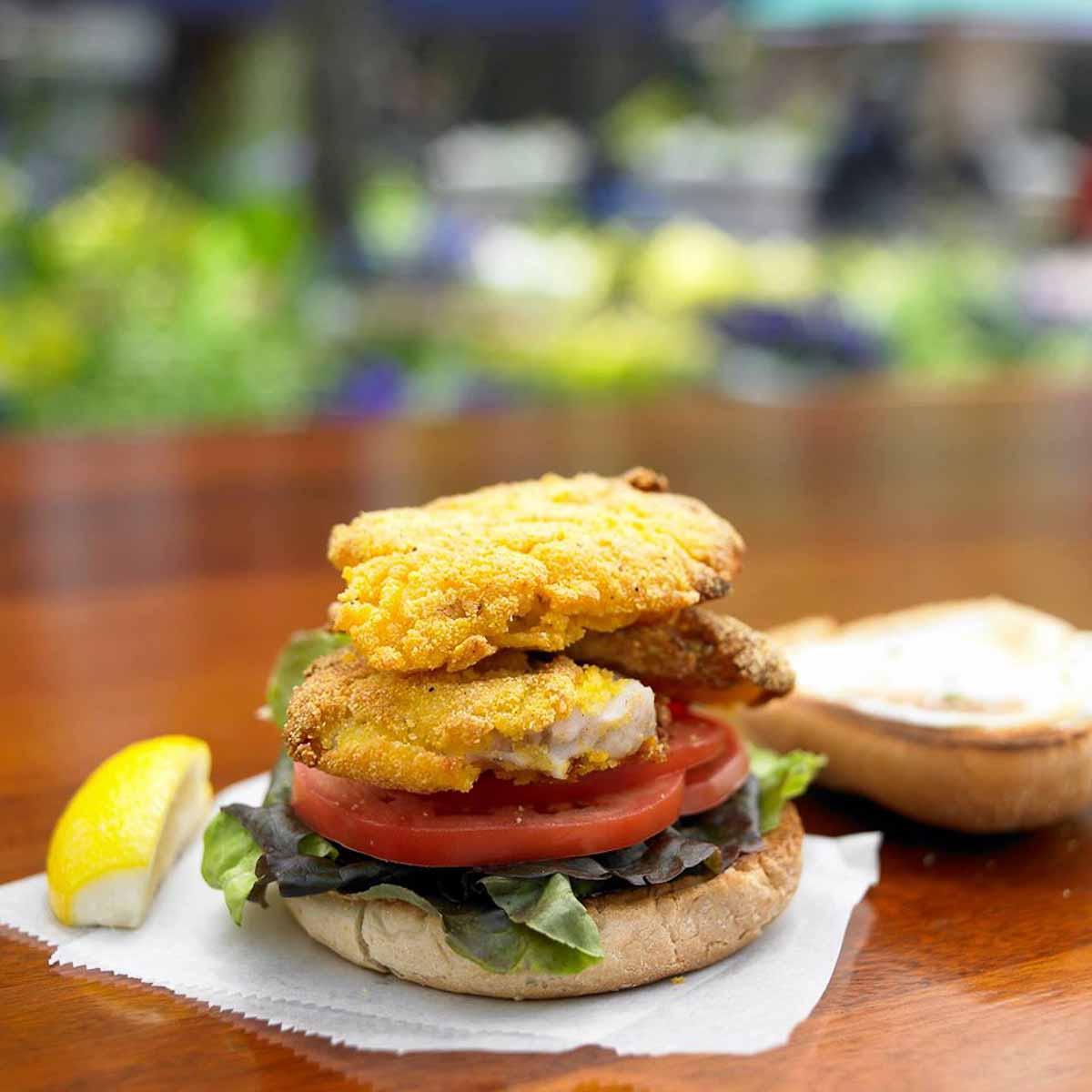 Monkfish Sandwich   Photograph courtesy of Henrietta's Table