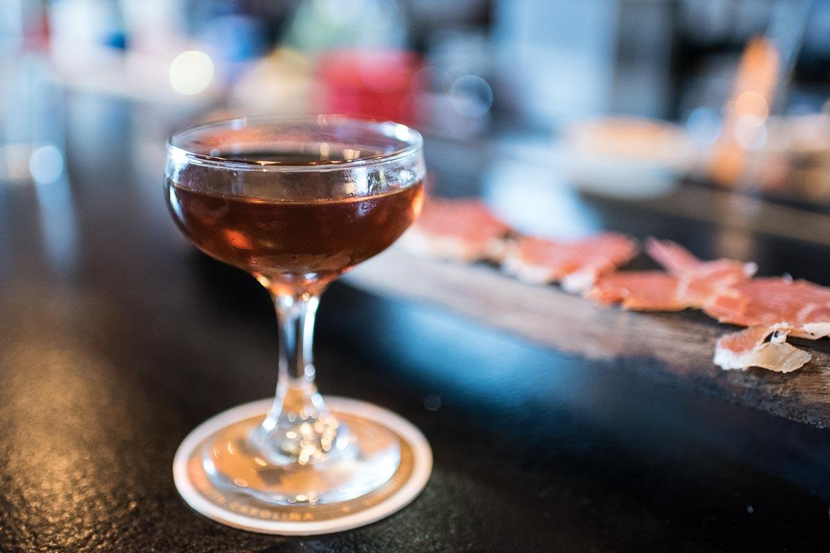 Barrel-Aged Manhattan &Broadbent Country Ham | Photo Credit: Find. Eat. Drink.